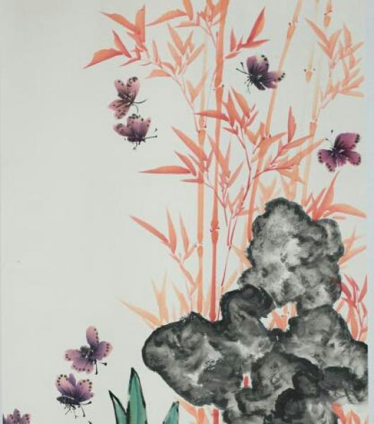 国画、书法、彩绘艺术品交流