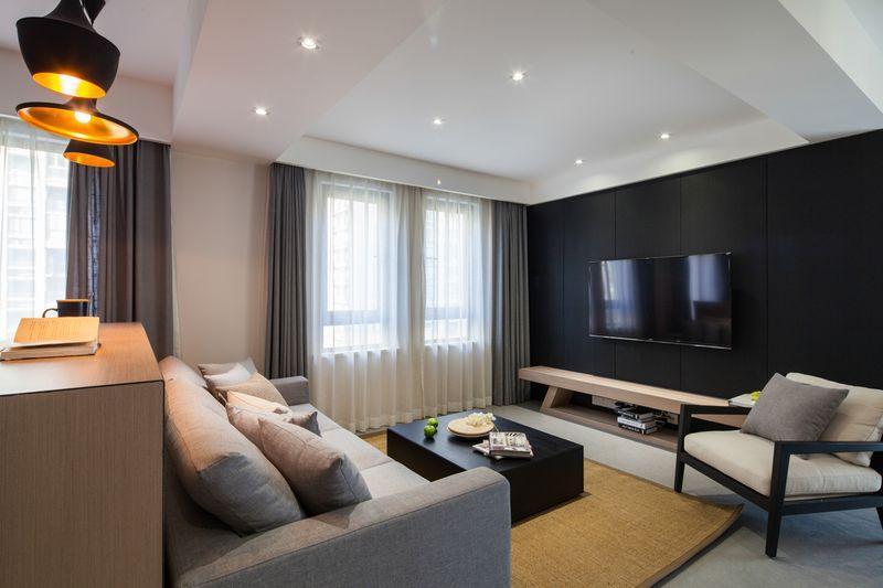 112平米的房子全包装修多少钱?现代风格二居室设计说明!