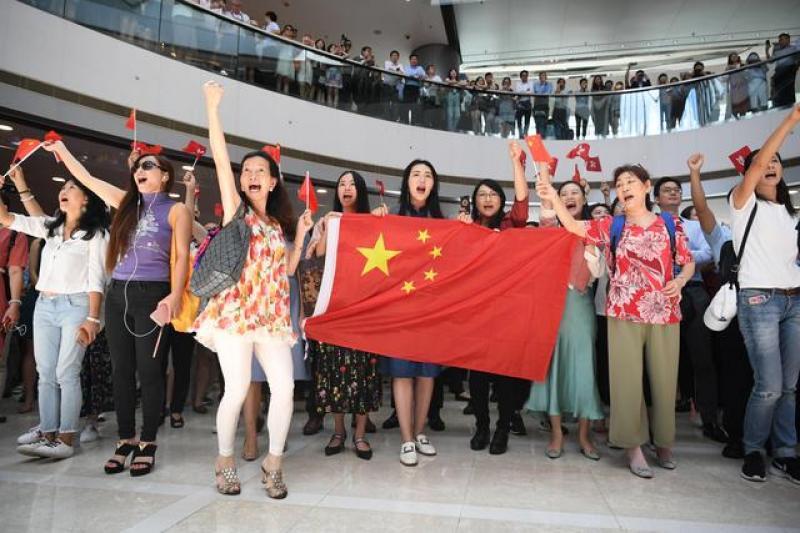 """【野区帅叔叔】""""勇敢站出来!反对暴力!""""——香港市民发起""""齐唱国歌""""快闪"""