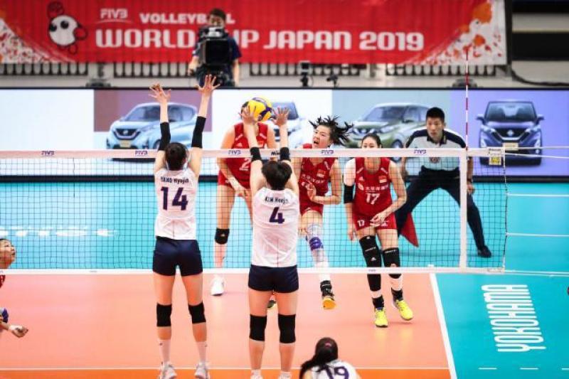 朱婷破个人纪录!中国女排3-0韩国,迎世界杯开门红,金软景哑火