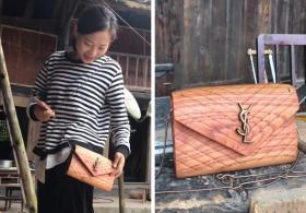 贵州24岁小哥用木头给女友做挎包、给老妈做高跟鞋,比奢侈品稀罕