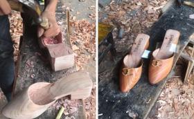 【纨绔の少年】贵州24岁小哥用木头给女友做挎包、给老妈做高跟鞋,比奢侈品稀罕