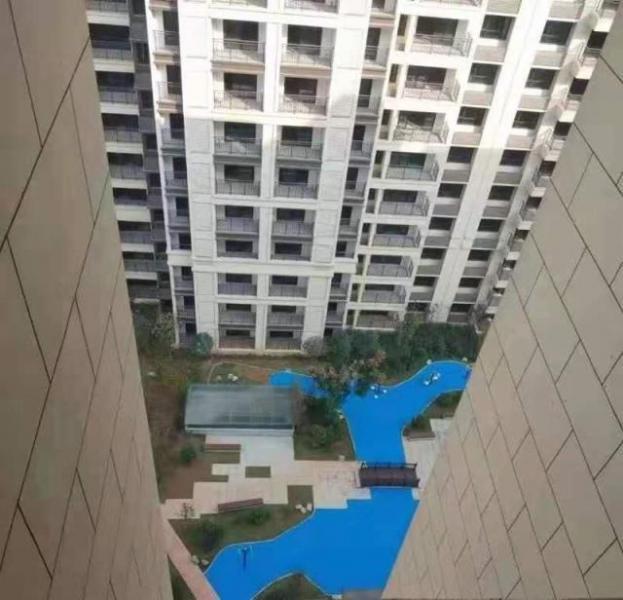 长沙一小区塑胶湖惹争议,开发商:是景观,从未说过要建真湖
