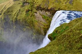 【清风竹间行】追逐冰岛奇景(1):冰岛最大最优雅的斯科加瀑布