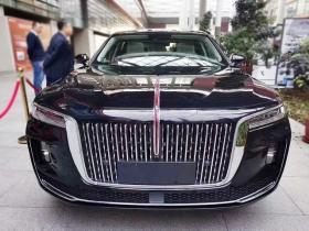 【想穿婚纱的孩纸】红旗H9纯黑色五座版实车,气场真的是比奥迪A6奔驰E级强大太多了