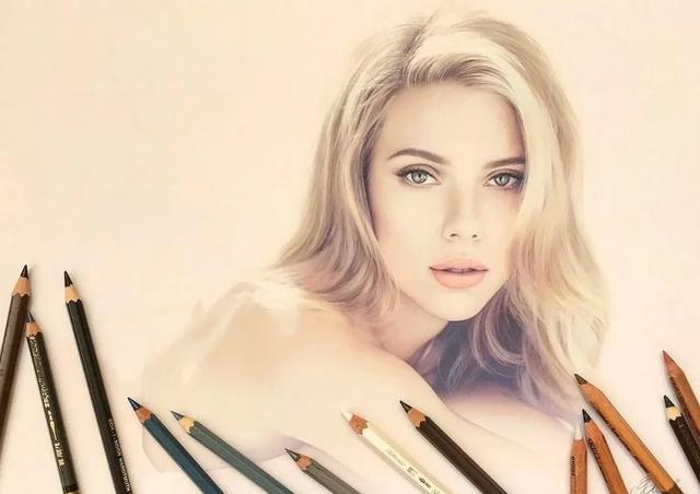 超写实逼真的彩铅手绘名人肖像,堪比摄影作品,惊艳