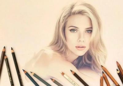 【巷雨优美回忆】超写实逼真的彩铅手绘名人肖像,堪比摄影作品,惊艳