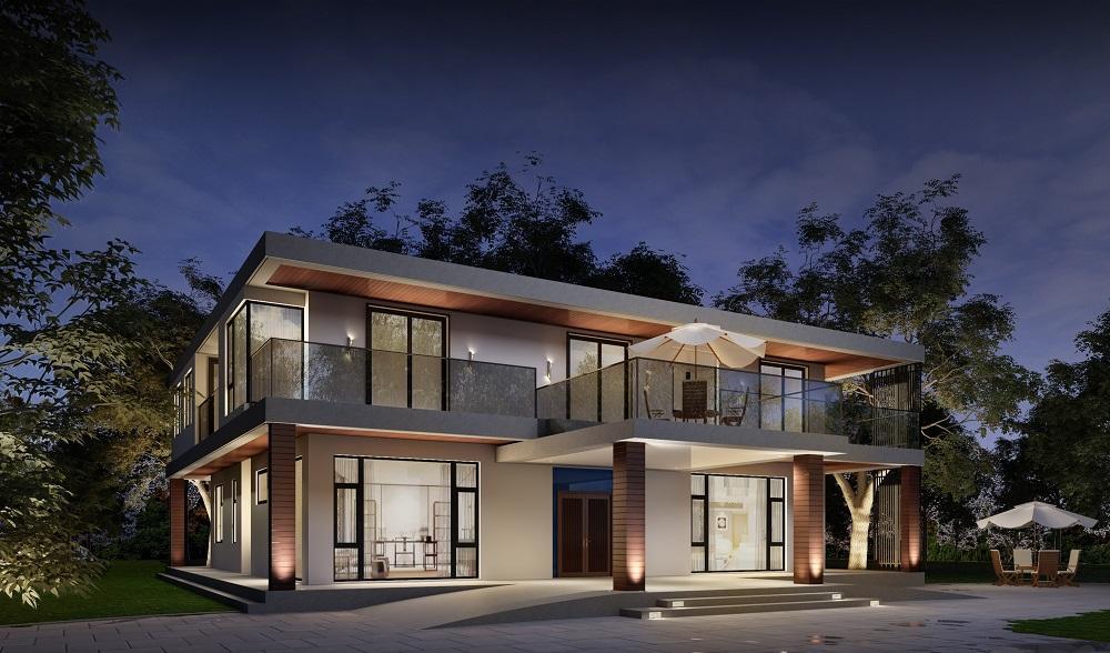 487m²独栋别墅,大老板花80w自建53w装修出低调奢华感