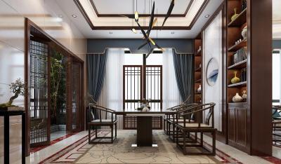 【钢琴上的芭蕾】537m²古韵别墅,新中式豪宅这么来装修,分分钟钟惊艳你的朋友圈
