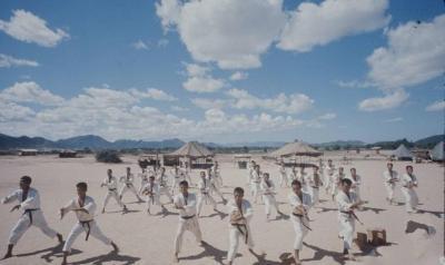 越战时期,韩国向越南派出的猛虎师团军事训练行动