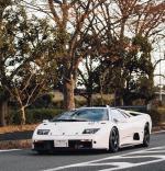 Lamborghini Diablo GTR,这辆车是从Diablo GT所改造而来的,整体改良全部都是为了赛道使用,调校过的6.0L V12引擎能输出590马力(比标准车型多了100匹),空力套件、悬吊系统、煞车、以及防滚笼也都一应俱全,内装则完全拆空并装上所有赛道走行指定设备,车体也重新以碳纤维材质进行制作。Diablo GTR能在3.5秒内完成0-60 mph (96 km/h),极速则为3