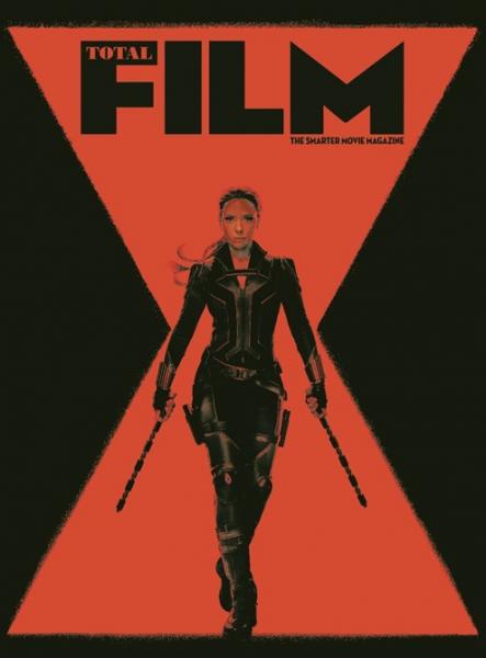 《黑寡妇》登电影杂志封面:手持双刀