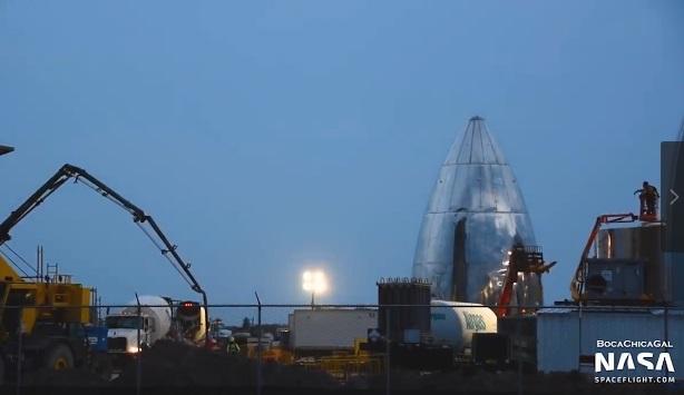 网曝Space X启动SN4星际飞船原型机组装