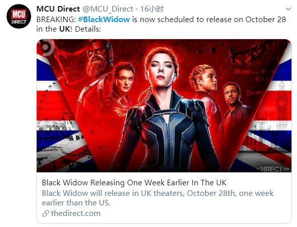 【猫街少女梦】漫威《黑寡妇》英国档期确认 比北美还早