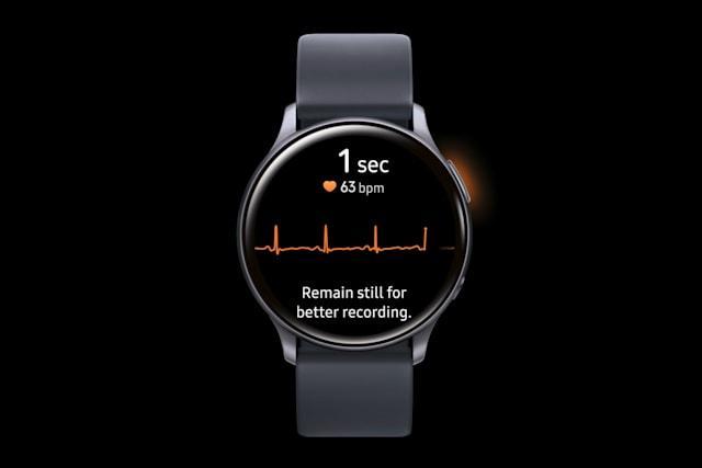 【酒市舞青帘】三星智能手表这一功能获批 动动手指就能获取心电图